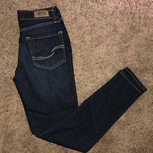 "Dark Signature ""Levi Strauss & Co."" skinny jeans"